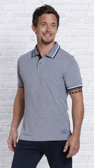 Image of   Elegant Polo-Shirt Darkblue - Økologisk