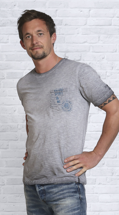 Image of   AA-Shirt Spirit Jeansblu
