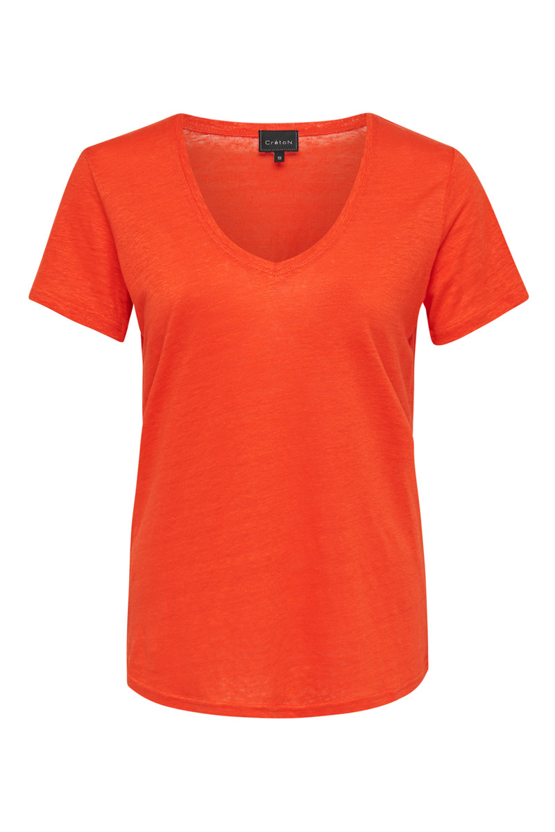 Image of Ava - T-shirt i Orange Farve