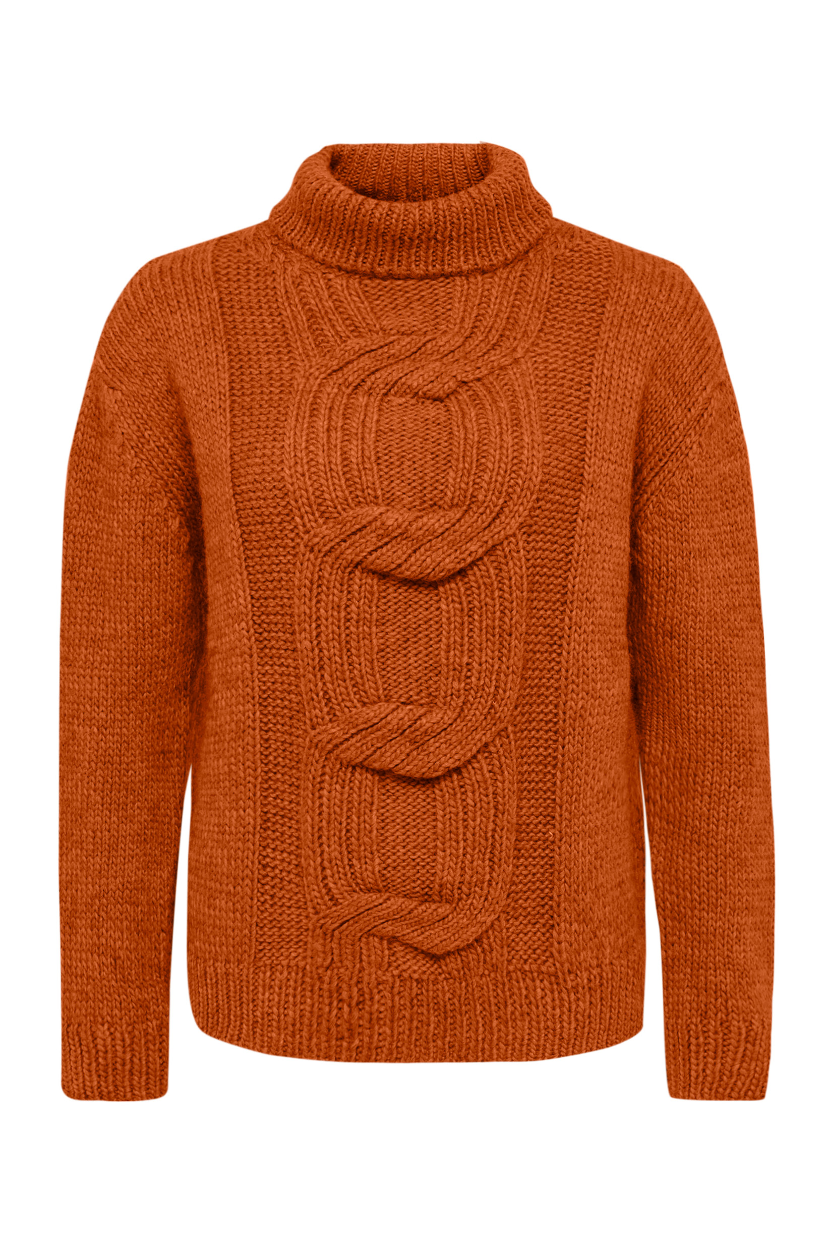 Image of   A-Twist Sweater i 3 Farver - Orange