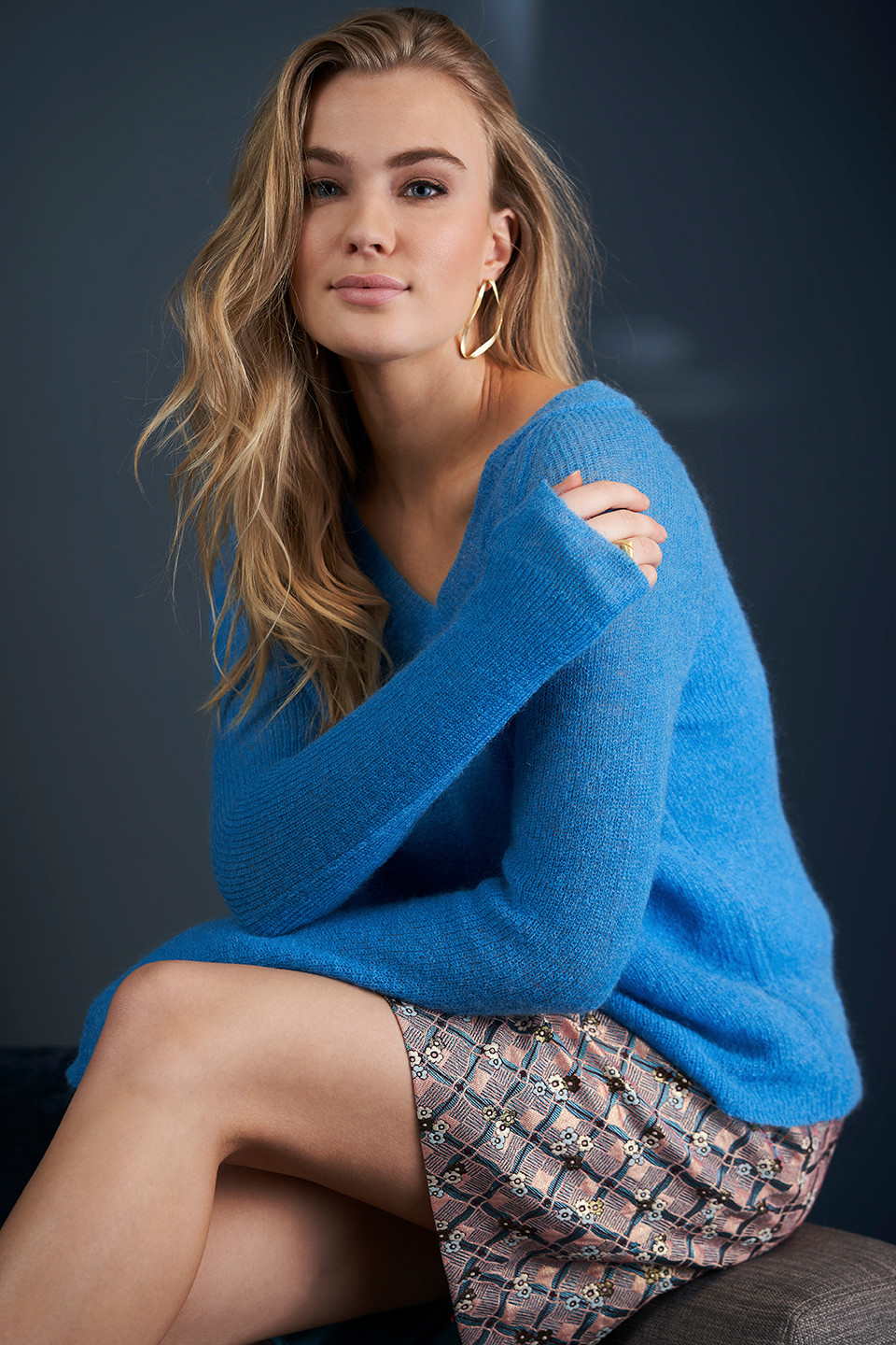 Image of   A-Exxie Sweater i 2 farver - Azur Blå