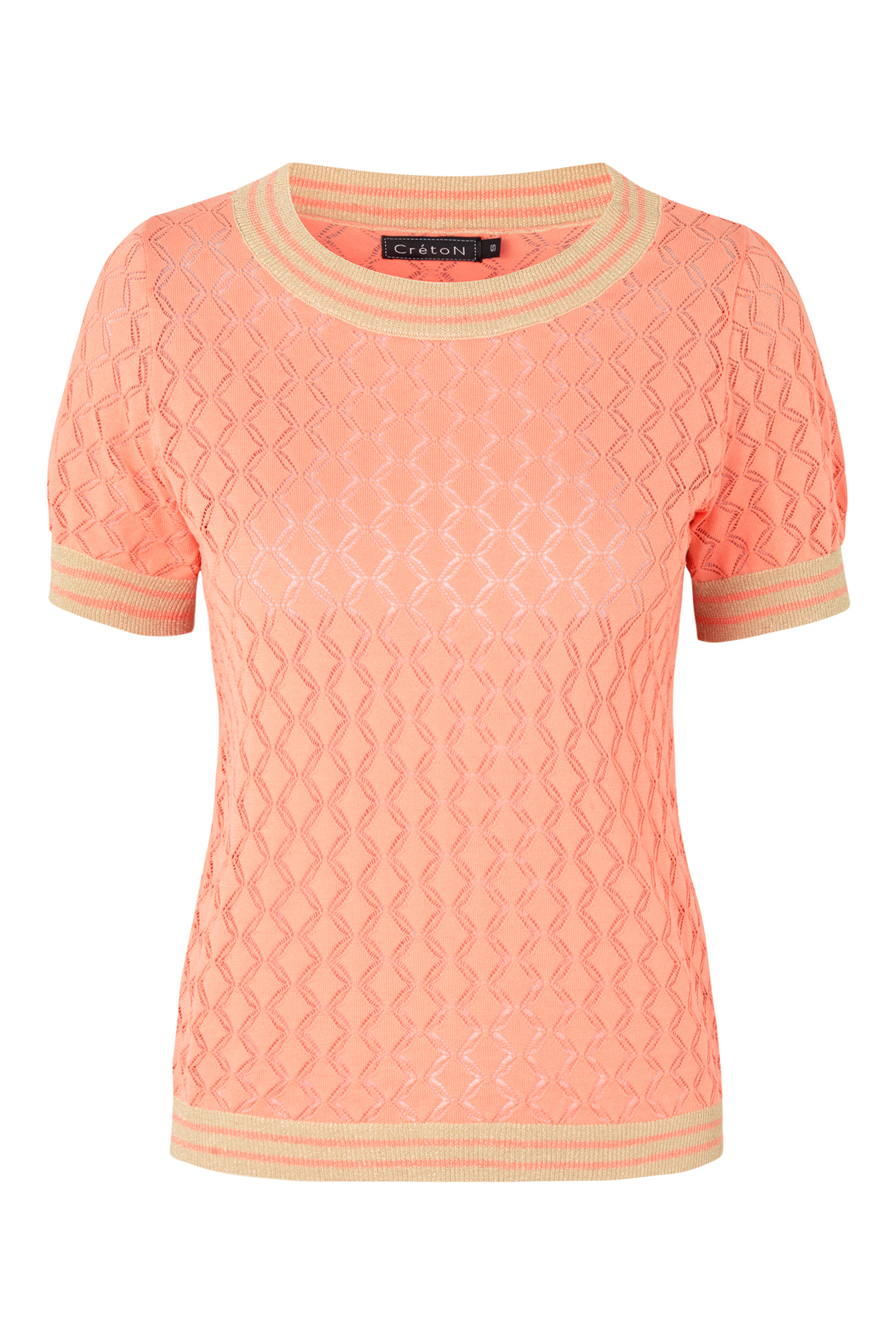 Image of   A-Ghinna Strik Top i 4 Farver - Coral