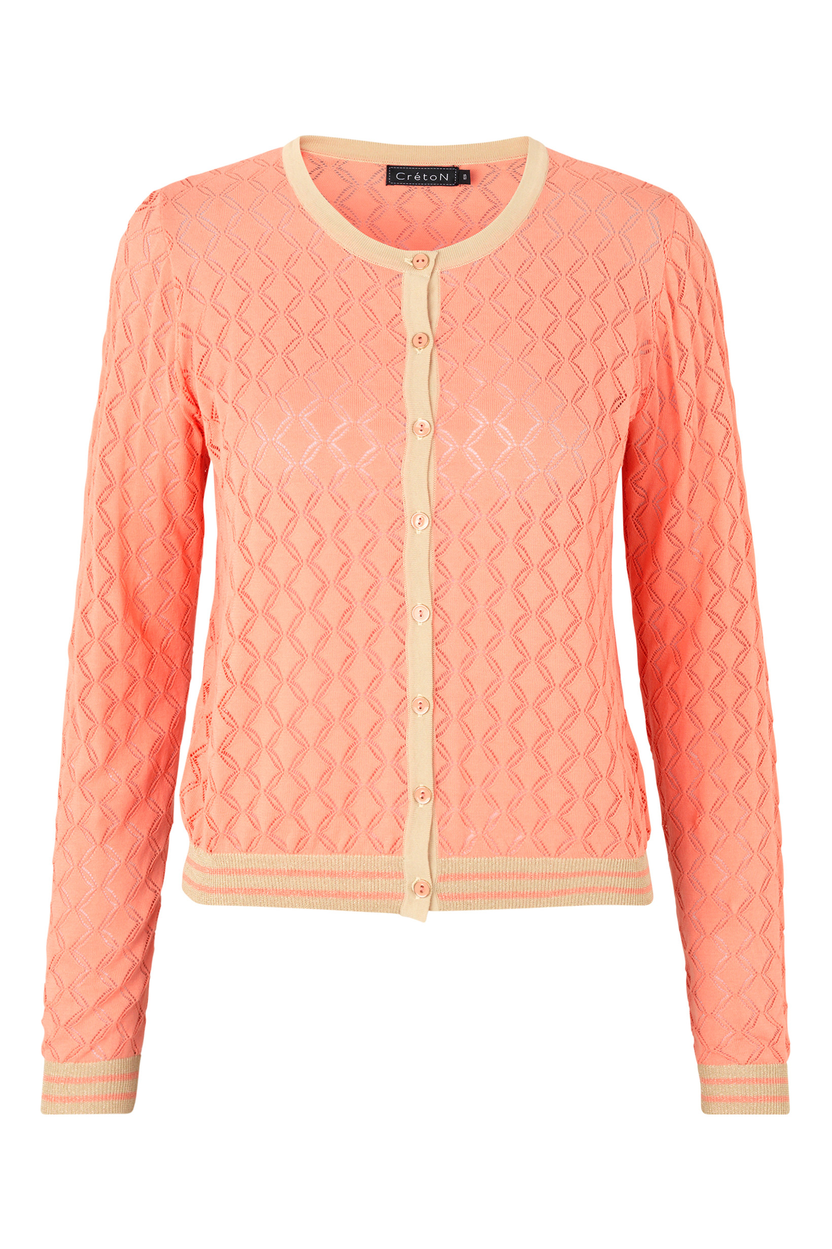 Image of A-Ghitta - Smuk Cardigan i 3 Farver - Coral